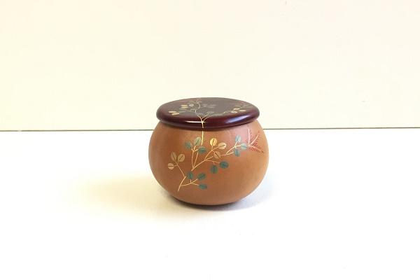 なつめ 瓢茶器 竜田川蒔絵 中村湖彩作