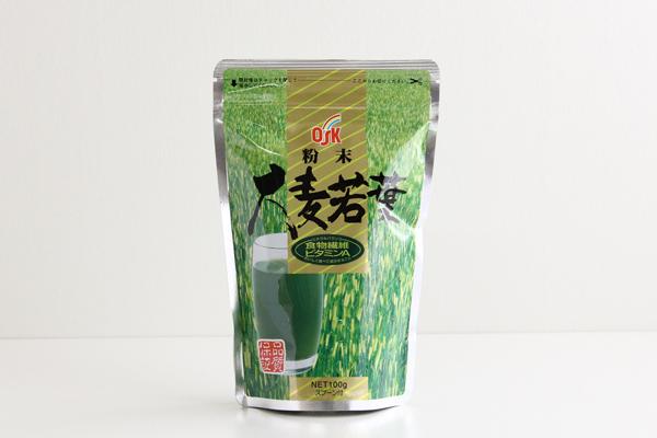OSK 粉末 大麦若葉 100g