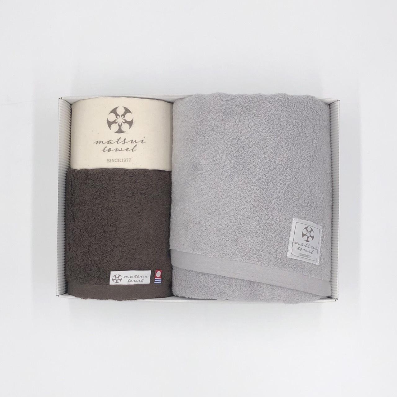 【ギフトボックス入り】内祝いや結婚祝いにおすすめ!大切な人に贈りたいおしゃれで上質なタオルギフト 日本製 今治タオル バスタオル1枚+フェイスタオル1枚 おすすめ2色セット 布袋つき Beaute ボーテ