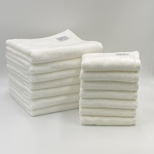 【まとめ買いセット/送料無料】最高級コットンを使用した贅沢なタオル 今治タオル 日本製 Beaute ボーテ  バスタオル7枚+フェイスタオル7枚 同色セット