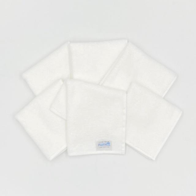 【送料無料/メール便対応商品】ウイルス除去・除菌加工タオルハンカチ同色6枚