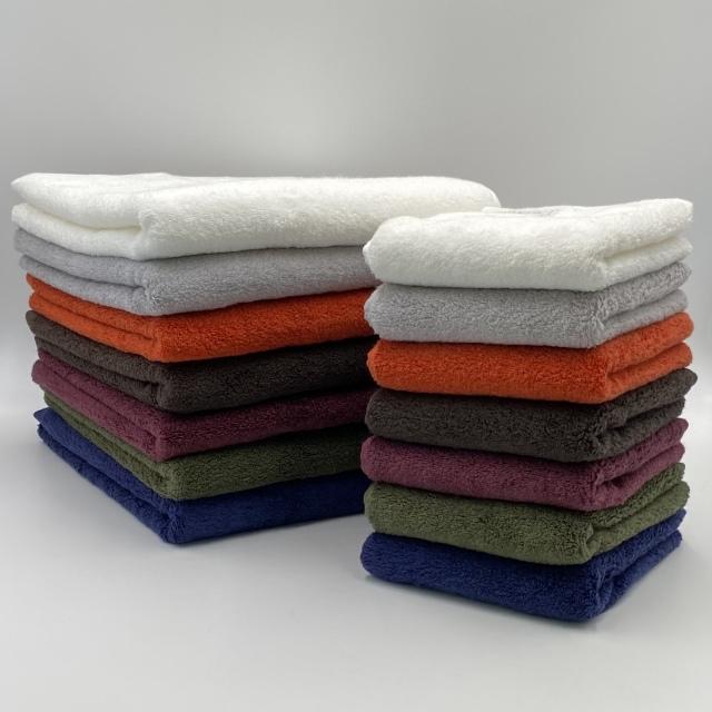 【まとめ買いセット/送料無料】最高級コットンを使用した贅沢なタオル 今治タオル 日本製 Beaute ボーテ バスタオル7色+フェイスタオル7色 計14枚セット