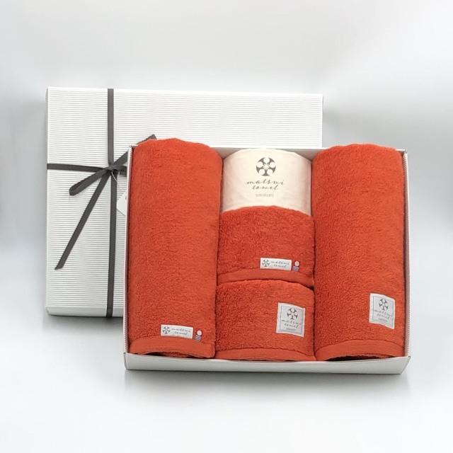 【ギフトボックス入り/送料無料】内祝いや結婚祝いにおすすめ!大切な人に贈りたいおしゃれで上質なタオルギフト 日本製 今治タオル バスタオル2枚+フェイスタオル2枚 同色セット 布袋つき Beaute ボーテ