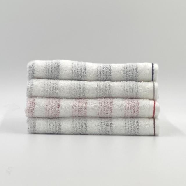 【送料無料】やわらかボーダーの速乾タオル 今治タオル 日本製 plage プラージュ 色を選べるフェイスタオル 4枚組