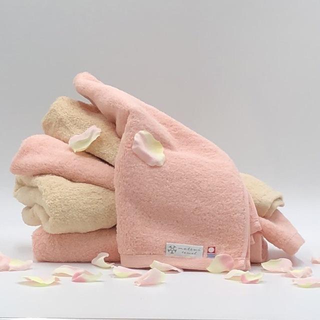 【まとめ買いセット】華やかな色合いとフワフワな使い心地 今治タオル 日本製 Cherie シェリー バスタオル2枚+フェイスタオル3枚 2色セット