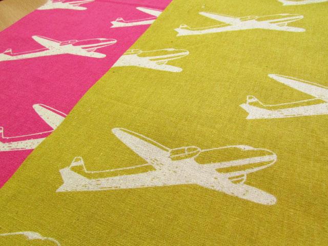 お買い得! 【ハーフリネンキャンバス】  ◇ echino ni-co 2014 ◇ 『Airplane』