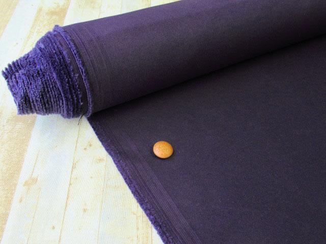 【反売り】 やや厚手 綿サテン ディープロイヤルパープル系