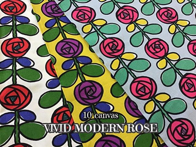 【コットン 10番キャンバス】 『 VIVID MODERN ROSE 』 -ビビット モダン ローズ-