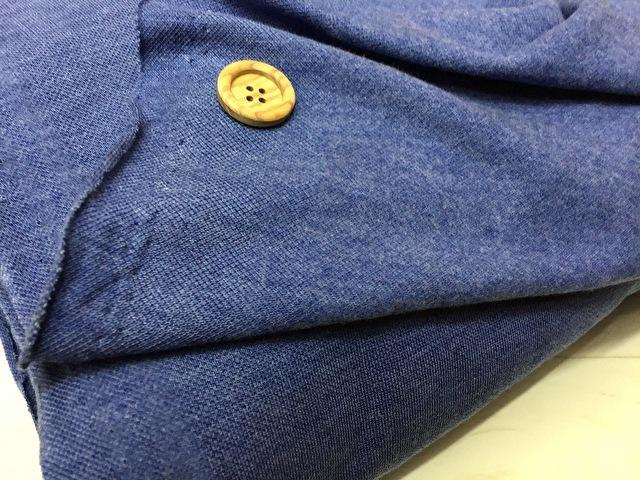 【反売り】裏起毛カノコニット 杢ブルー系[ 幅180cm×約4m巻 ]