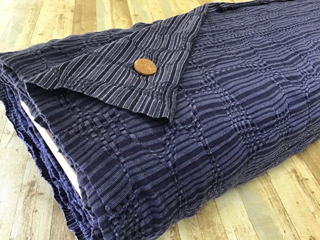 【反売り】変わり織りジャーガードニット スモーキーパープル系[ 幅155cm×11m巻 ]