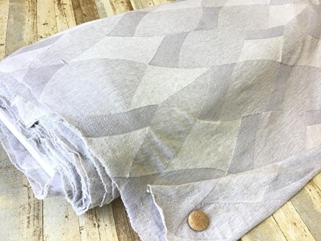 【反売り】コットンジャガードニット 薄いグレー系[ 幅140cm×8m巻 ]