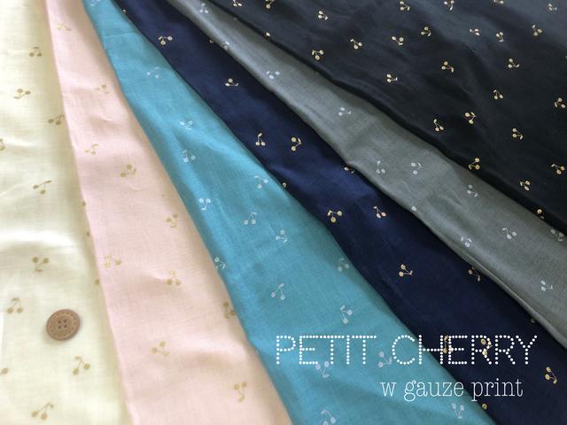 【ふんわり ダブルガーゼラメプリント】 ★☆ PETIT CHERRY ☆★ -プチチェリー-