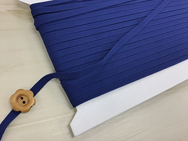 現品処分! 〈縫製工場放出品〉  約6mm幅 『 ストレッチテープ 〈ブルー系〉』 約30m巻