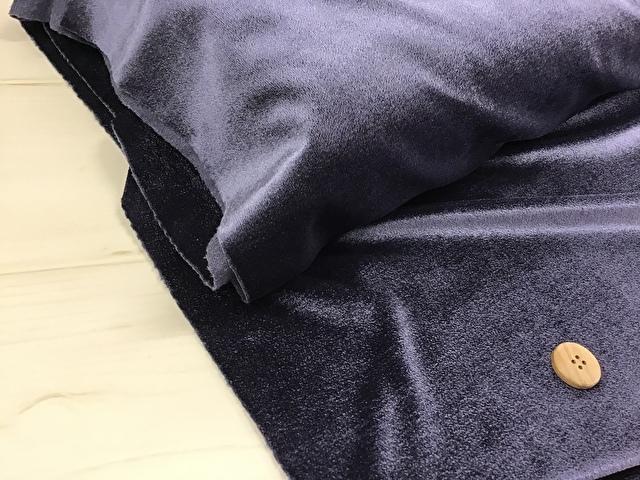 【反売り】ベロア パープルネイビー系[ 幅155cm×約5m巻 ]