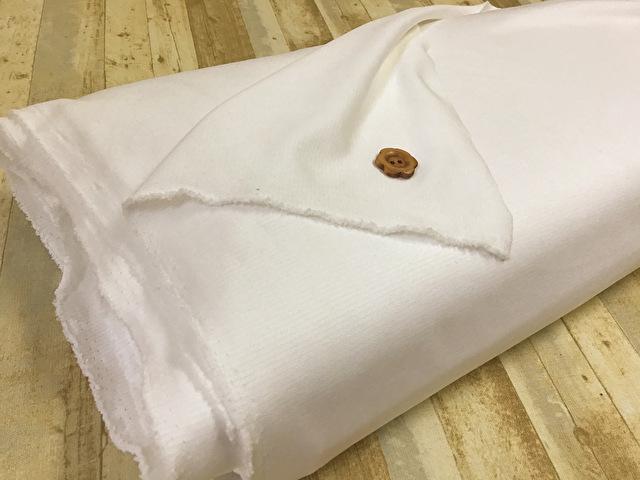 【反売り】合繊スムースニット ホワイト[ 幅150cm×8.5m巻 ]