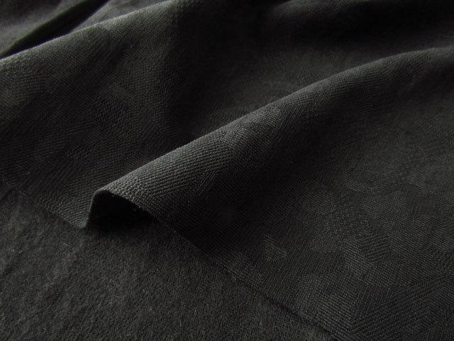 【反売り】  しっかりストレッチジャガードやや裏起毛 ブラック [ 幅150cm×約4.5m巻 ]