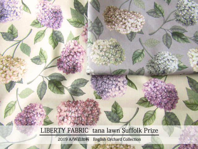 LIBERTY  タナローン *2019 秋冬追加柄/English Orchard Collection* ≪Suffolk Prize≫(サフォーク・プライズ)DC30104-TDD-J19