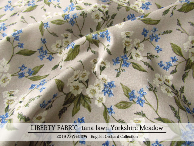 LIBERTY  タナローン *2019 秋冬追加柄/English Orchard Collection* ≪Yorkshire Meadow≫(ヨークシャー・メドウ)DC30106-TDD-J19B