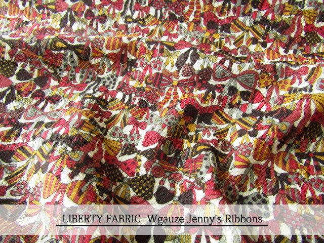 LIBERTY ダブルガーゼ ≪Jenny's Ribbons≫(ジェニーズ・リボンズ)06-3636294-CV 06B