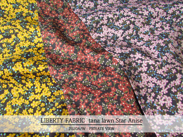 LIBERTY タナローン *2020 秋冬柄/PRIVATE VIEW*≪Star Anise≫(スターアニス)2036302121-20