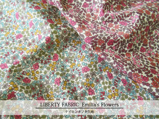 LIBERTY ナイロンタフタ生地* ≪Emilia's Flowers≫(エミリアスフラワーズ) 3630184