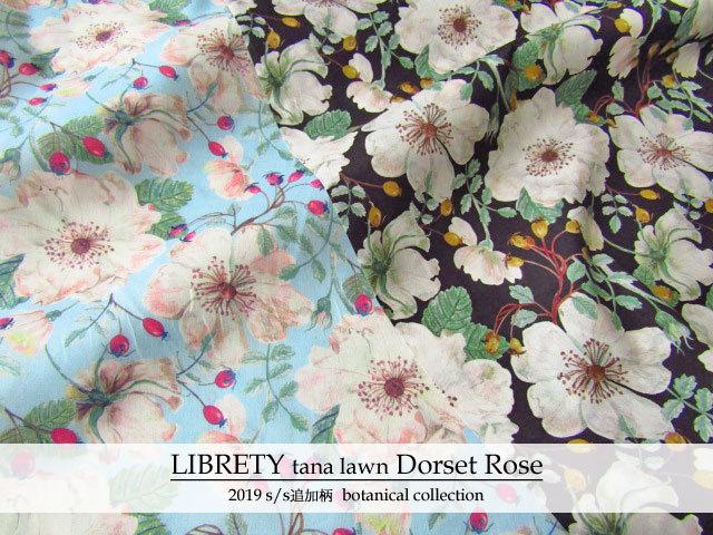 LIBERTY  タナローン *2019 春夏追加柄/Botanical Collection* ≪Dorset Rose≫(ドーセットローズ)DC30096-TDD-J19
