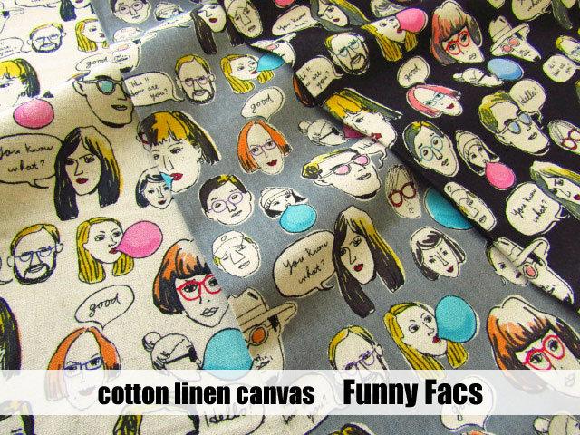 【コットンリネンキャンバス】  『 **Funny Face ( ファニー フェイス )** 』