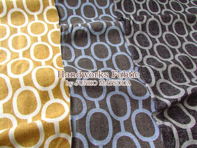 【コットンリネンプリント】 Handworks Fabric by JUNKO MATSUDA