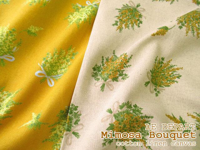【綿麻キャンバス】 LE DEPART ~Mimosa Bouquet~(ミモザブーケ)