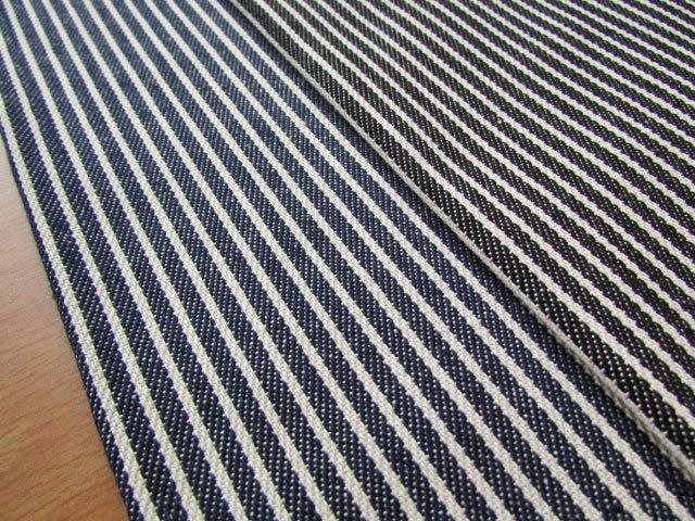 5回目の再入荷!【コットン】 ◇ Hickory Stripe Denim (ヒッコリーストライプデニム) ◇