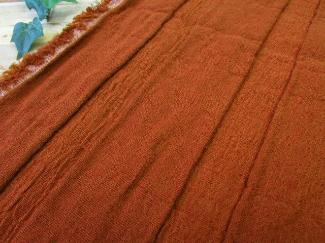 先染め変わり織りストレッチ ダークオレンジ