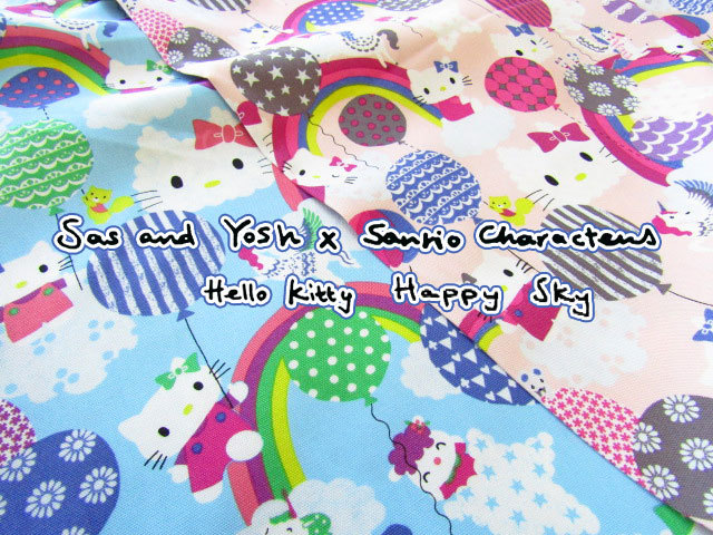 【コットン オックス】 Sas and Yosh × Sanrio characters  ≪ハローキティ≫  『 Happy Sky 』