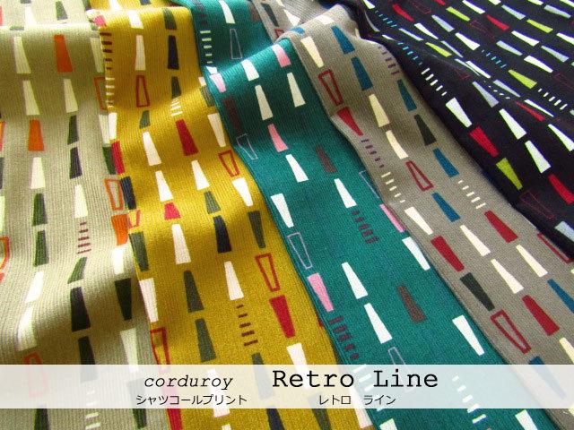 【シャツコールプリント】 『 Retro Line ( レトロ ライン ) 』