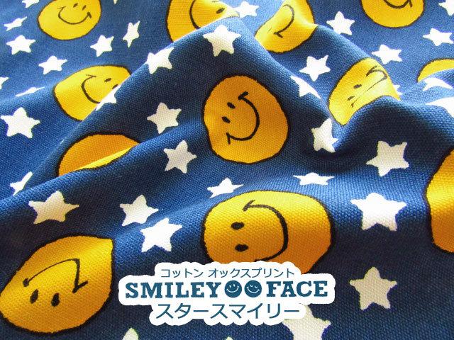【コットン オックス】 SMILEY FACE 2019☆ 『 スター スマイリー 』 ネイビー