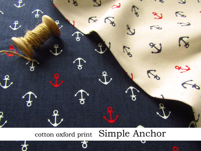 【コットン オックス】++ Simple Anchor(シンプル アンカー)++