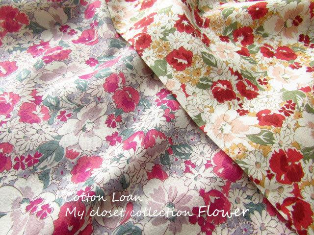 【コットンローンプリント】 My closet collection*Flower(マイ クローゼット コレクション*フラワー)
