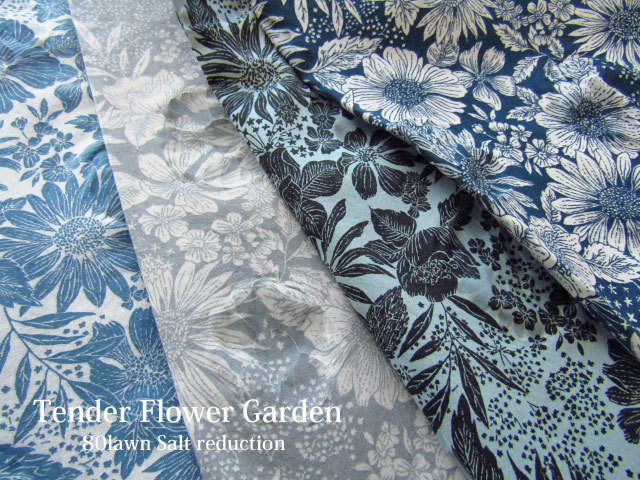 【 コットン 80ローン塩縮 】Tender Flower Garden*テンダーフラワーガーデン