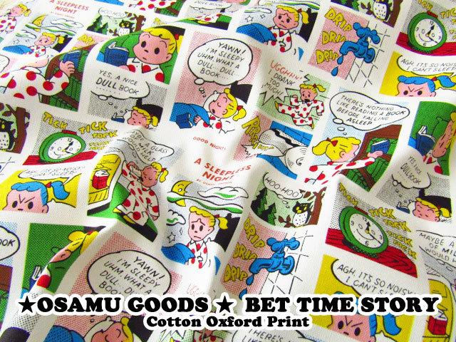【コットン オックス】 ★OSAMU GOODS★(オサムグッズ) 『 ベット タイム ストーリー 』 ホワイト