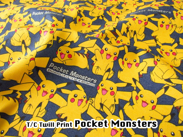 【T/Cツイルプリント】 ★Pocket Monster★ポケットモンスター  ネイビー