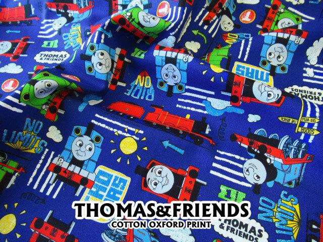 【コットン オックス】 THOMAS  & FRIENDS ◇きかんしゃトーマス ロイヤルブルー