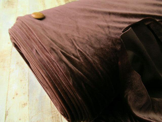 わけあり!【反売り】ベロア ダークブラウン系[ 幅150cm×約5m巻 ]