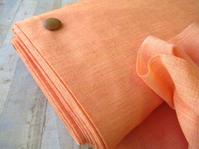 【反売り】ポリエステルストレッチ 杢オレンジ系[ 幅100cm×約6.5m巻 ]