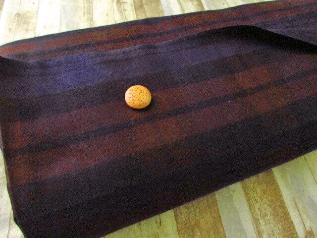 【反売り】コットン起毛チェック ネイビー×ブラウン系[ 幅110cm×約9.6m巻 ]