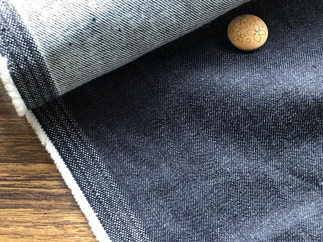 【反売り】 約9オンス ストレッチデニム ダークネイビー系[ 幅150cm×2.4m巻 ]