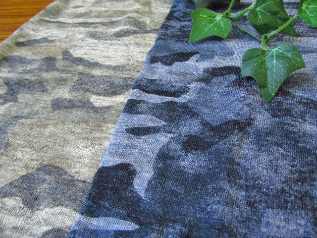【50%OFF!】リネンプリントニット Vintage Camouflage (ビンテージカモフラージュ)