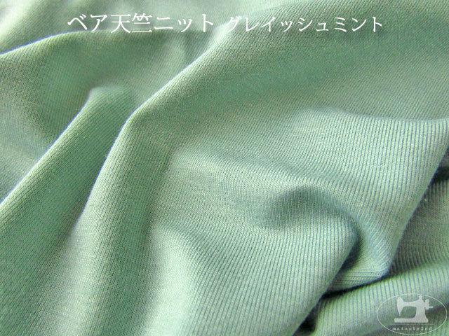 【メーカー放出反】 ベア天竺ニット グレイッシュミント