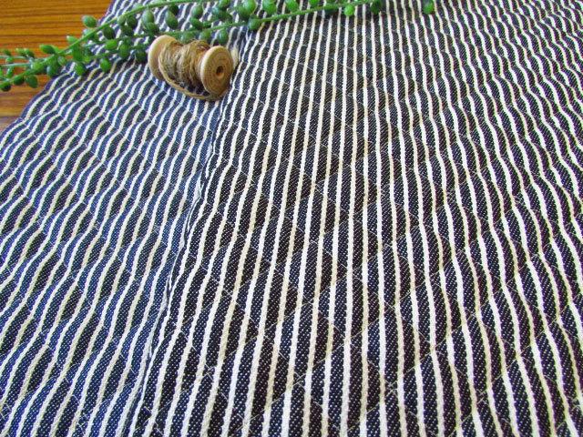 4回目の再入荷!【キルティング】 ◆ Hickory Stripe Denim (ヒッコリーストライプデニム) ◆