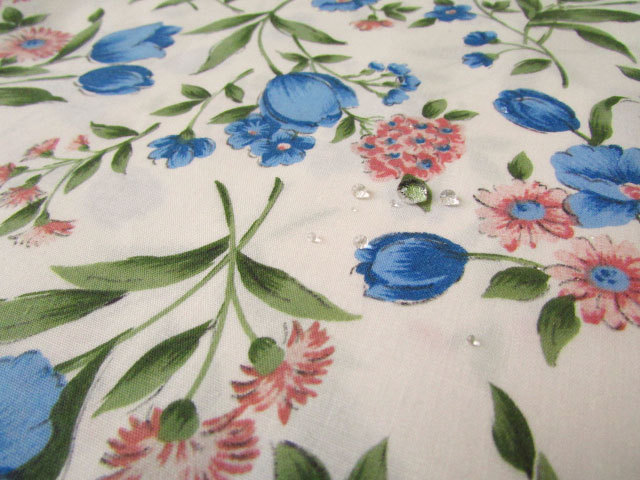 【メーカー放出反!】ポプリン *Blue Flower(ブルーフラワー)*【撥水加工】
