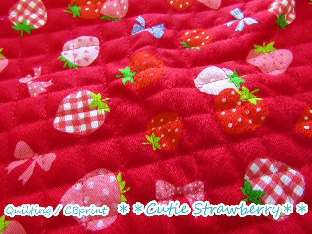 【キルティング】**Cutie Strawberry(キューティー ストロベリー)**【CBプリント】