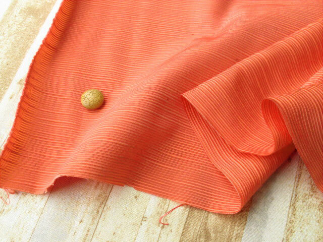 アウトレット! ≪バッグ向き≫スラブナイロン オレンジ(カス残し)系 約50cmカット